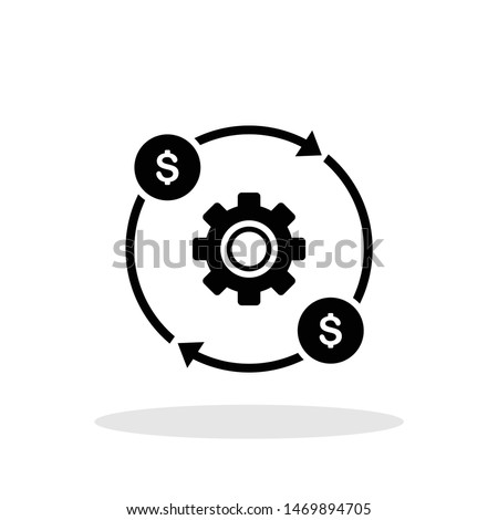 Costs optimization icon in flat style. Efficiency symbol for your web site design, logo, app, UI Vector EPS 10.