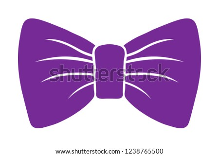 6ff5c2ab9 costume butterfly. bow purple vector silhouette. icon and decor. isolated  on white background