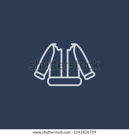 Costume icon. Costume linear design concept from Christmas collection. Simple element vector illustration on dark blue background.