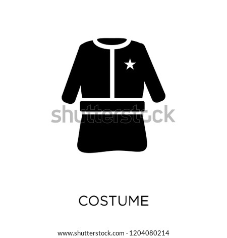 Costume icon. Costume symbol design from Christmas collection. Simple element vector illustration on white background.