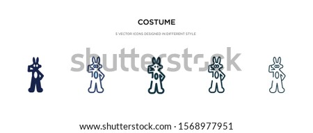 costume icon in different style