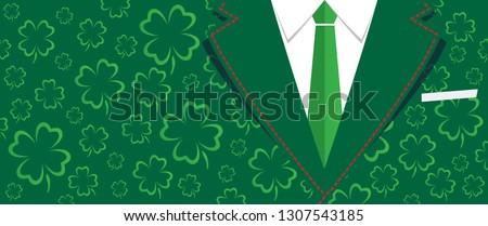 costume necktie men day clovers