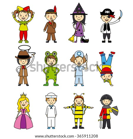 costumed children set