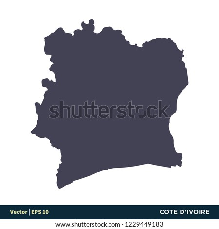 Cote d'Ivoire - Africa Countries Map Icon Vector Logo Template Illustration Design. Vector EPS 10. Photo stock ©