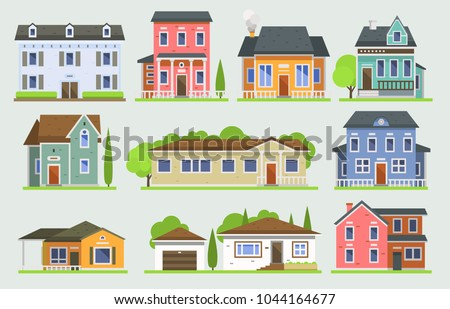 cottage house facede vector