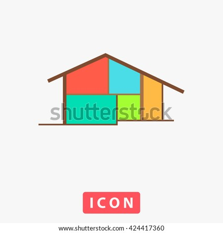 cottage icon vector cottage