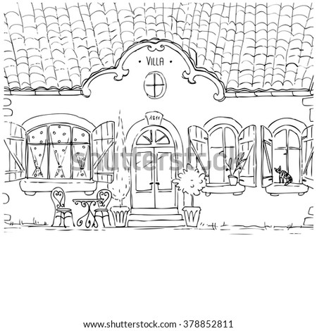 cottage little house vector