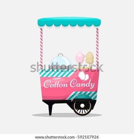 cotton candy cart  kiosk on