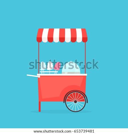 cotton candy machine. flat...