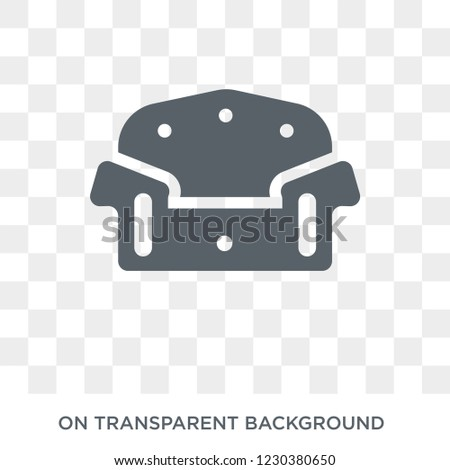 Couch icon. Couch design concept from Furniture and household collection. Simple element vector illustration on transparent background.