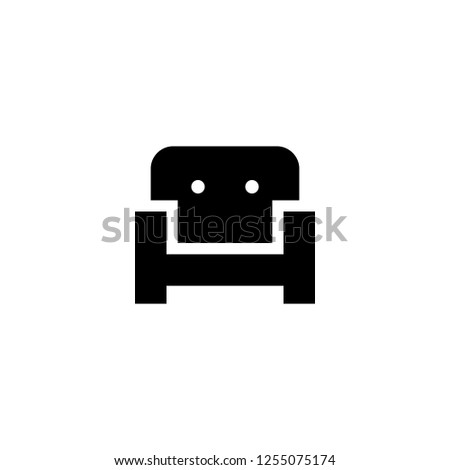 couch icon vector. couch vector graphic illustration