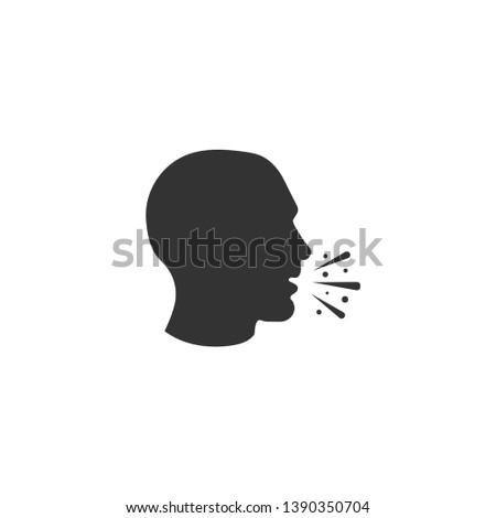 Cough icon in simple design. Vector illustration Stock photo ©