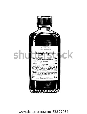 cough syrup   retro clip art