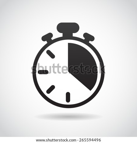 Count down icon isolated on white background. Vector art.