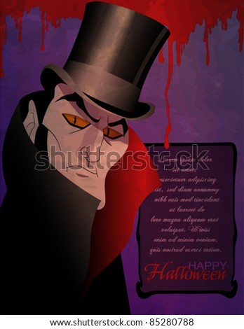 Count Dracula Halloween Invitation