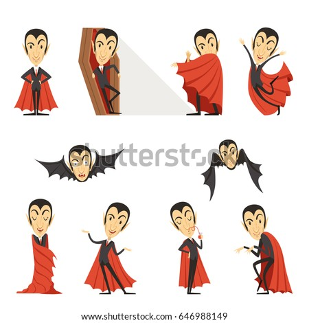 count dracula wearing red cape