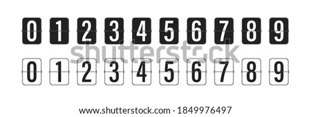 Countdown clock counter timer. Vector icon on white background.