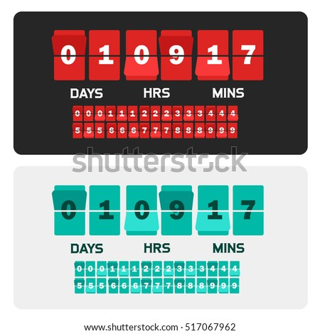 countdown clock digits board...