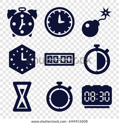 countdown icons set set of 9