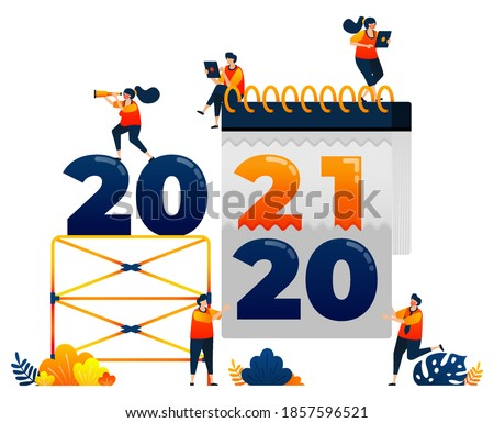 countdown of 2020 to 2021 with