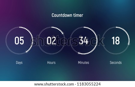 Countdown timer. Clock counter. Vector template for your design. Foto stock ©