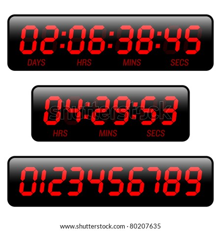 Countdown timer. Vector.