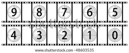Countdown - vector illustration