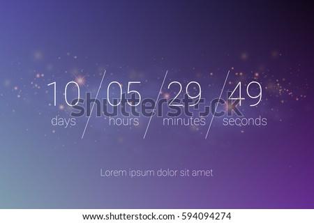 countdown web site vector flat