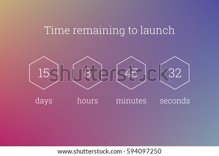 countdown web site vector flat