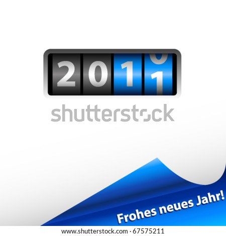 Counter 2011 and blue shiny corner - vector illustration