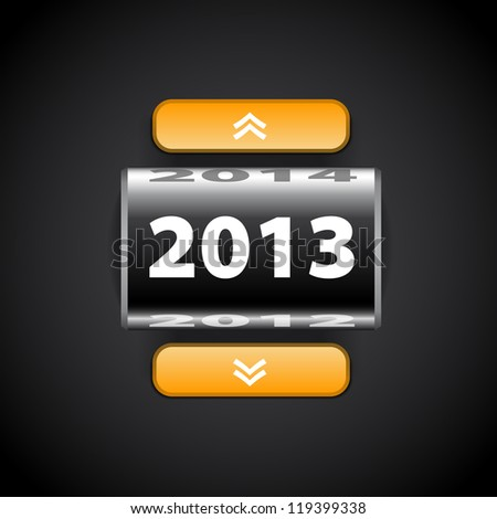 Counter 2013 year - Black with pointers
