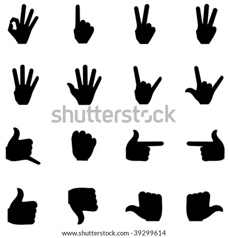 Counting fingers icon