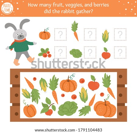 counting game with vegetables