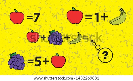 Counting games for kids and adults. Educational math game. Result. Crossword for social networks. Rebus. Riddle for the mind. Riddle with numbers. Vector