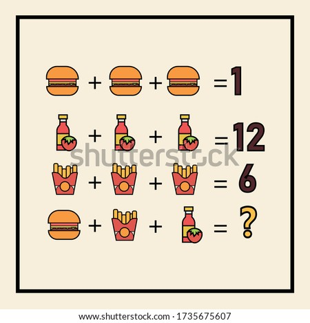 Counting games for kids and adults. Educational math game. Result. Crossword for social networks. Rebus. Mathematic riddle for the mind. Riddle with numbers. Vector
