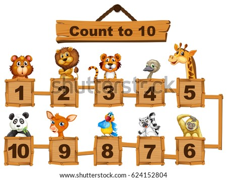 counting numbers one to ten