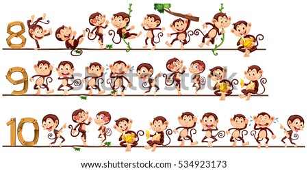 30 cartoon monkey vectors download free vector art graphics