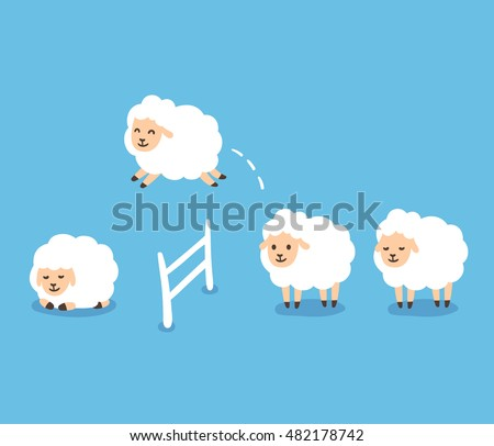 counting sheep to fall asleep