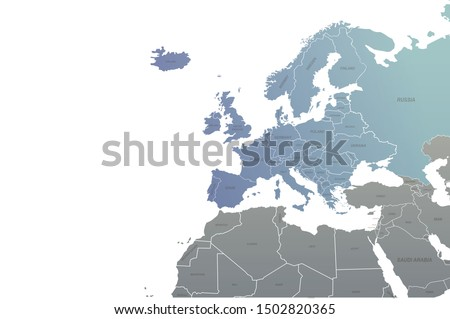 countries design vector of europe map. world map. eu map.