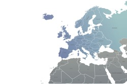 countries design vector of europe map. world map. eu map infographic background.