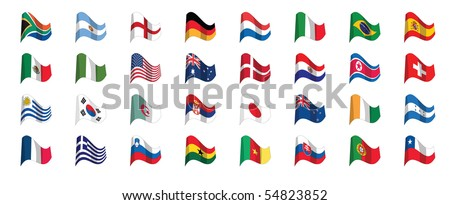 countries flag icons - stock vector