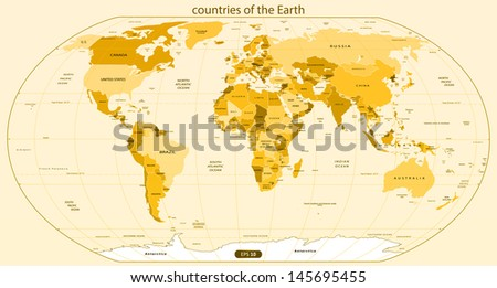 countries of the earth vector