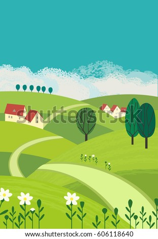 country landscape freehand