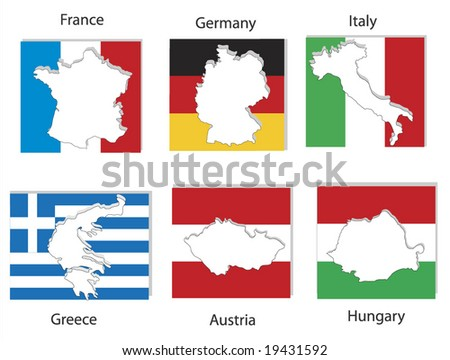 country maps and flags