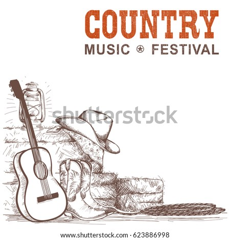 country music background with