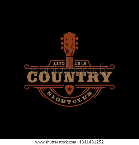 Country Music Bar typography logo design