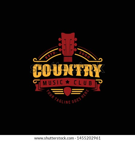 Country Music Club Typography Logo Design Inspiration