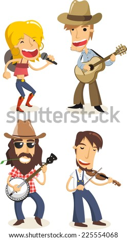 stock-vector-country-music-musicians-cartoons