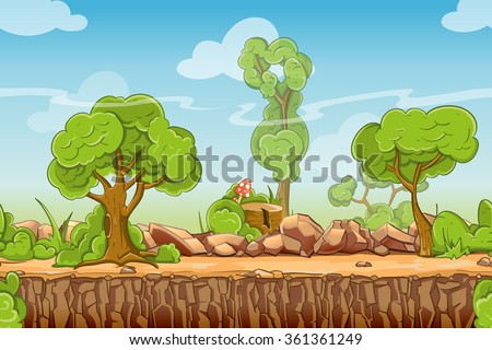 country seamless landscape in