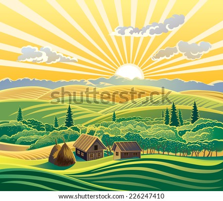countryside landscape  with